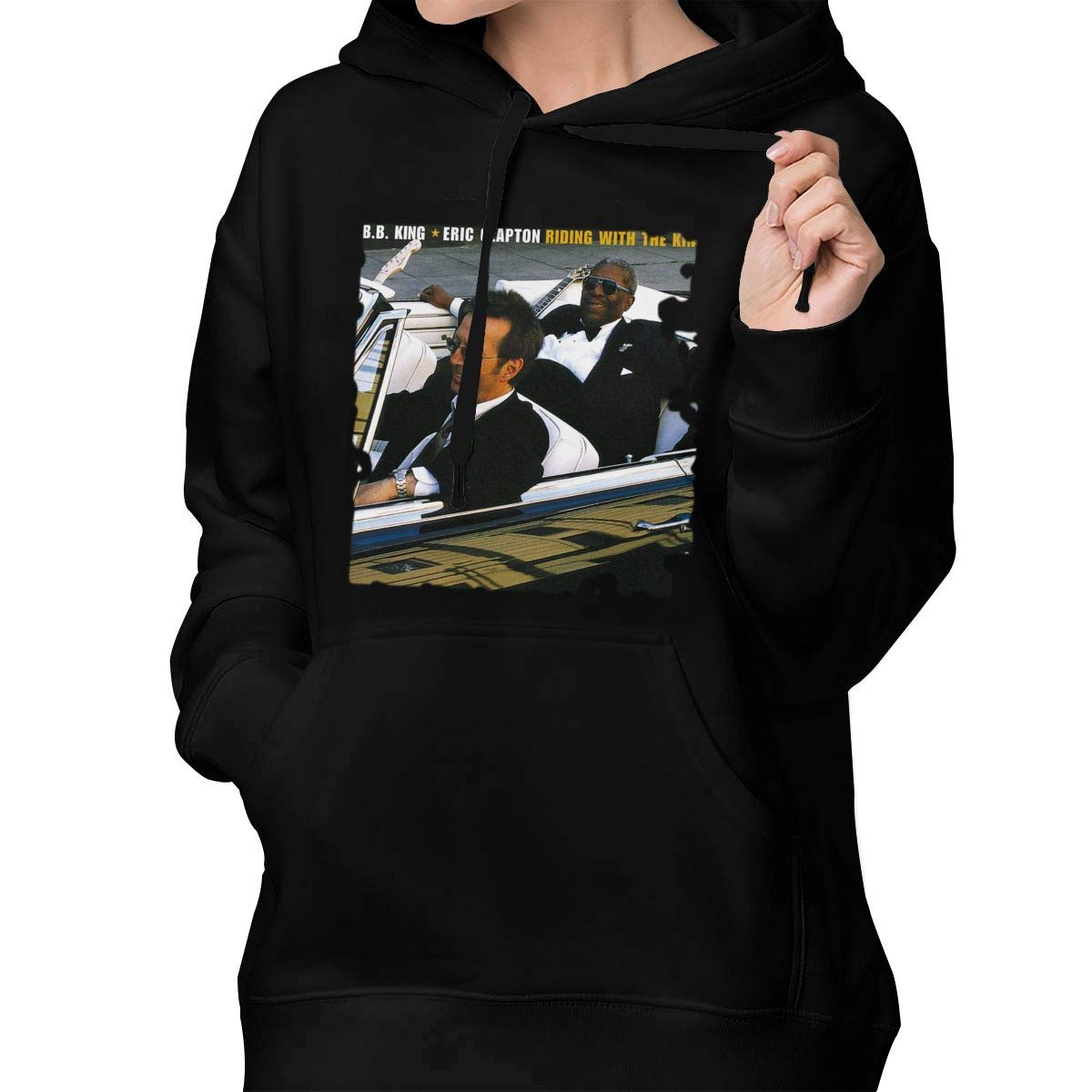 Qnchkopd Womens Eric Clapton Riding with The King Classic Sweater Black L