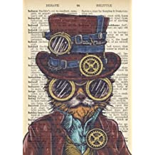 Steampunk Cat Dictionary Art Inspirational Quote Academic Planner (A5): A Monthly/Weekly Organizer for College Students and Teachers (August - July) (2017-2018 Planners with U.S. Holidays)