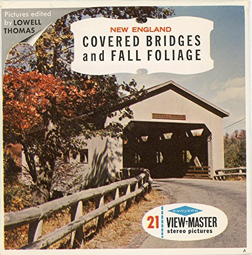 Classic ViewMaster - New England - Covered Brindges and Fall Foliage - 3Reel Packet- 21 3D Images