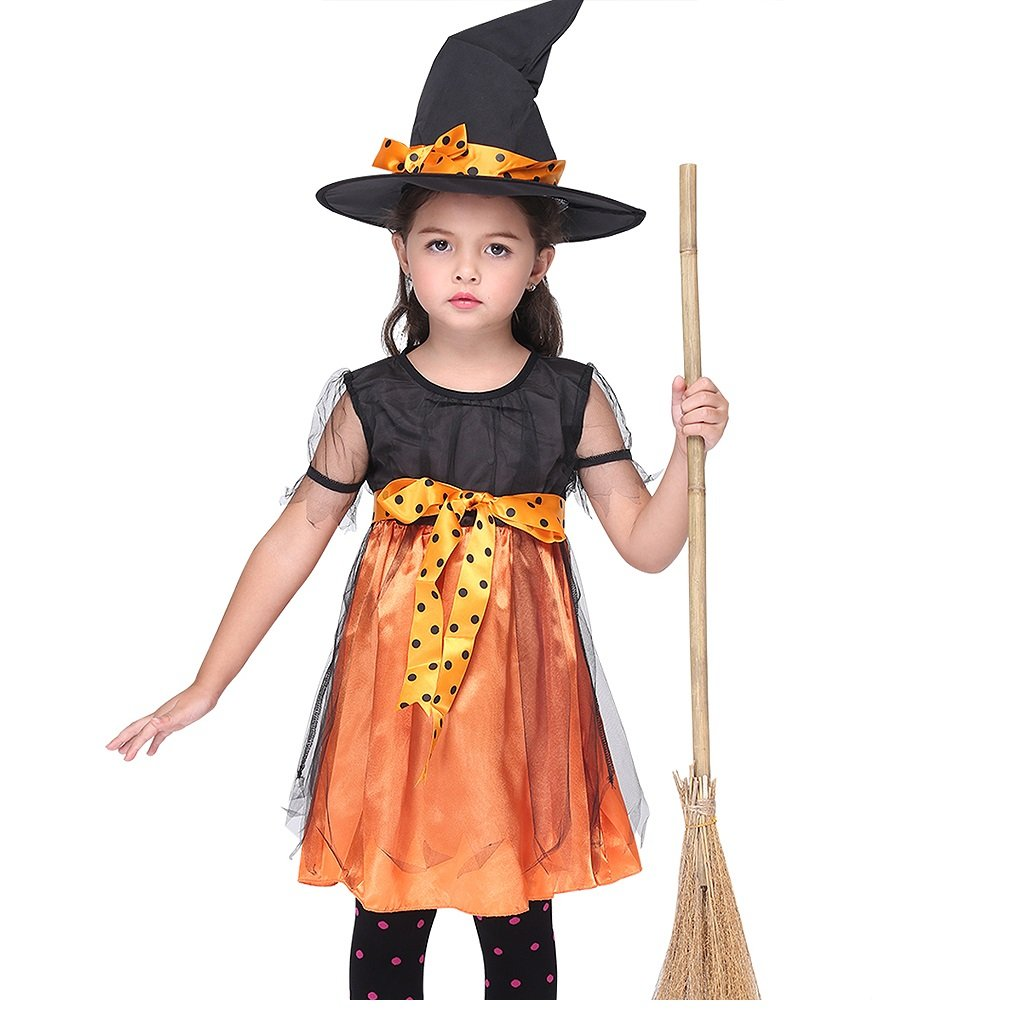 Girl's Fairytale Halloween Party Little Witch Dress-up Toddler Costume (Large)