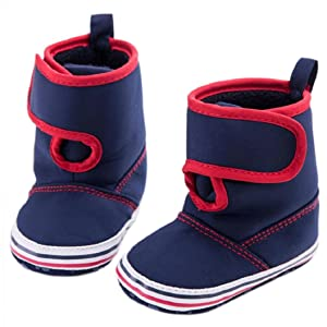 Fheaven Unisex Baby Toddler Infant Snow Boots Soft Sole Prewalker Crib Cloth Shoes (US:3( Age:6~12 Month), Blue)