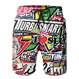 Pphy Graffiti Hip-hop Colorful Mens Boardshorts Swim Trunks Men Running Board Shorts Jersey