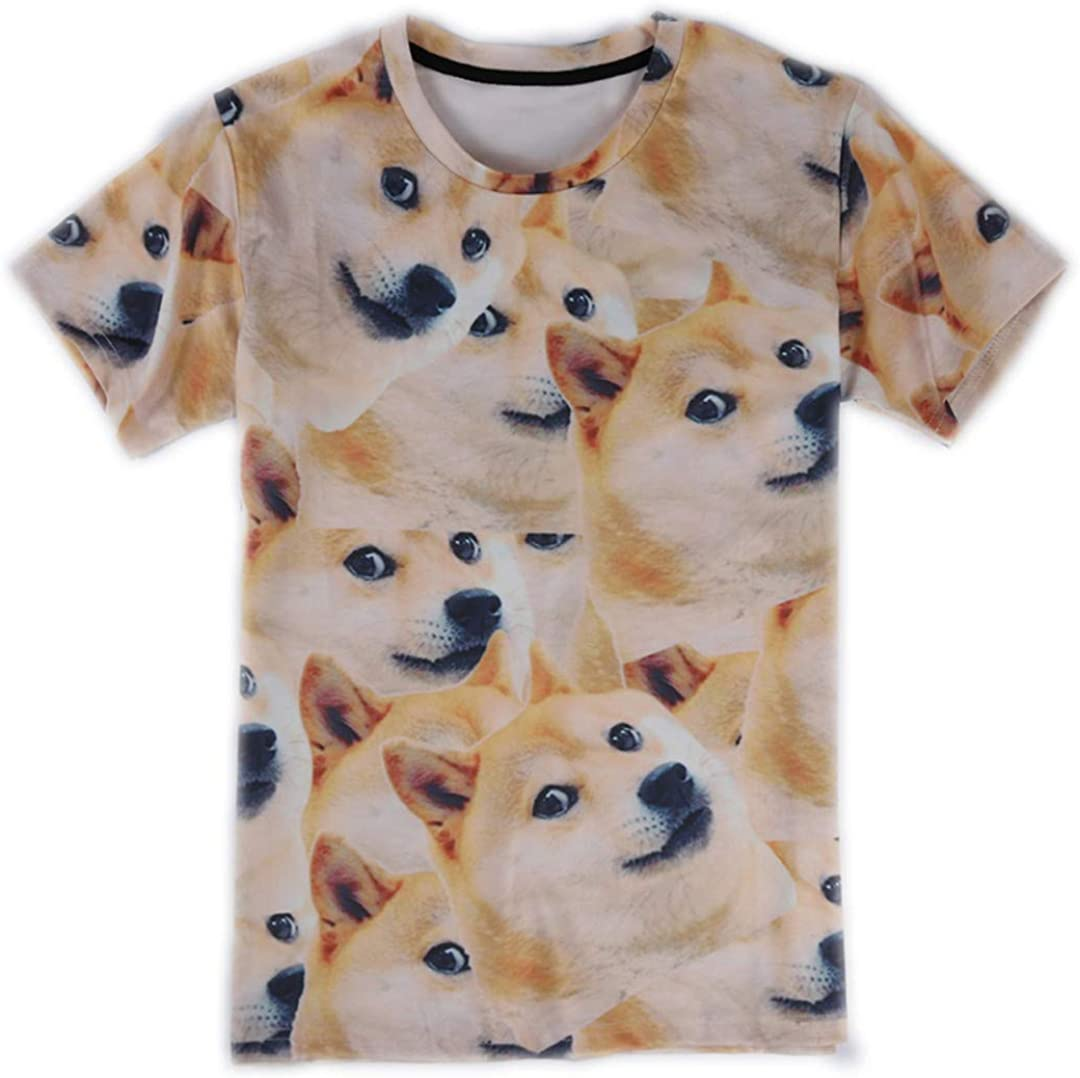 Funny Husky Camiseta Doge 3D Animal Cute T-Shirts Mujeres Hombres Tops T-Shirt Summer Style Outfit Tees: Amazon.es: Ropa y accesorios