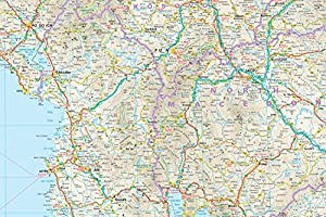 Balcanes Occidentales, mapa impermeable de carreteras. Escala 1 ...