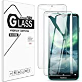 [2 Pack] Buluby for Nokia 7.2 / Nokia 6.2 Screen Protector Tempered Glass,HD Clear Scratch Resistant Bubble Free Anti-Fingerp