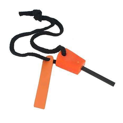 YARUIE 1 Conjunto Mechero Encendedor Pedernal De Magnesio Iniciador de Fuego Naranja