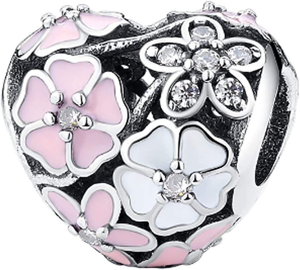 Chariot Trading 100/% 925 Sterling Silver Poetic Blooms Charm Beads