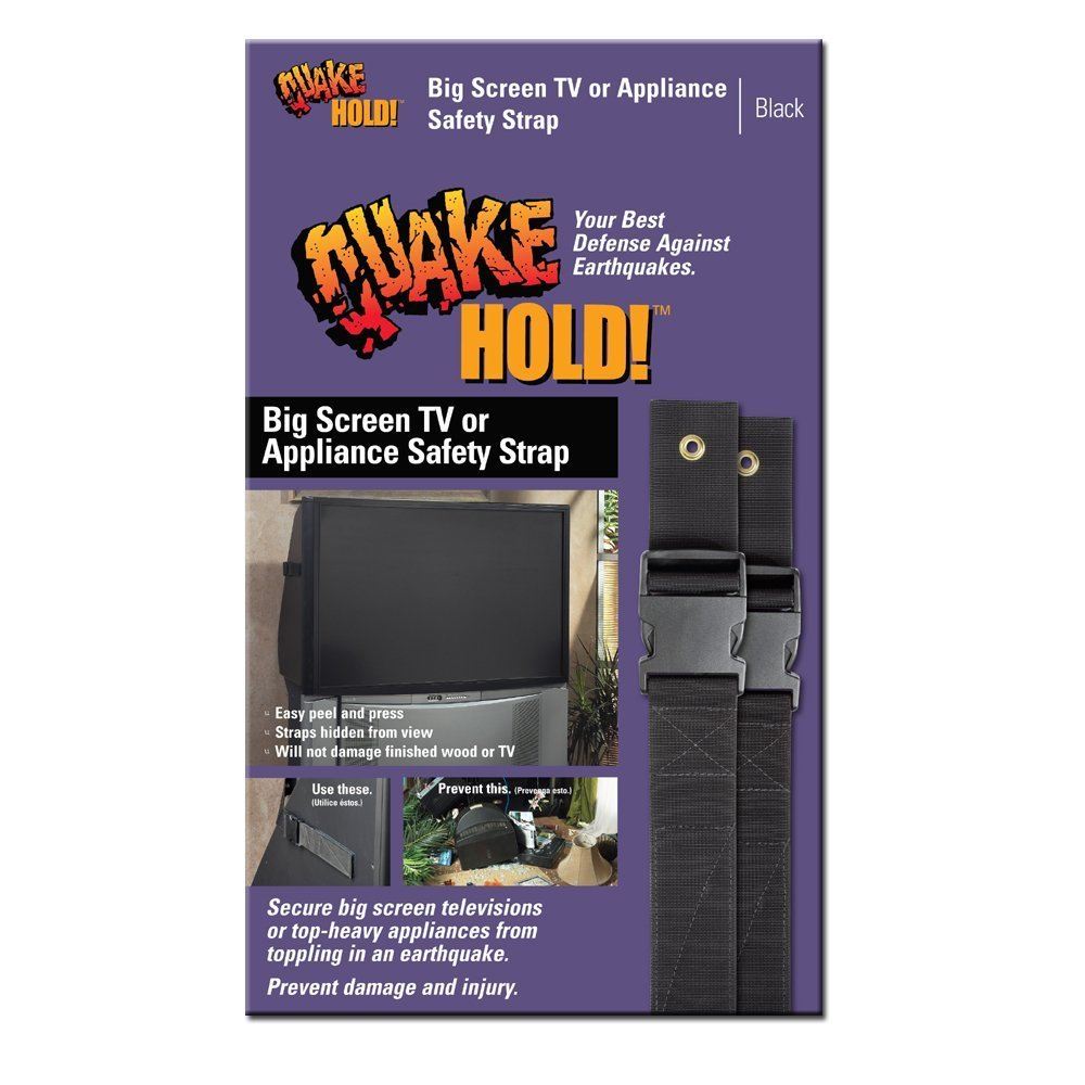 Quakehold! 4508 Ready America Quake Hold Adjustable Big Screen and Appliance Strap, 6 Ft L, 500 Lb, Nylon