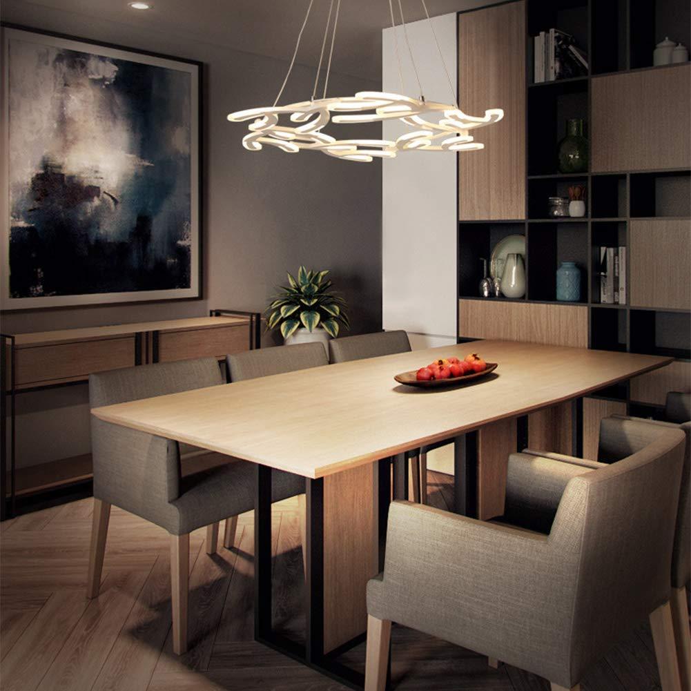 Hplights Modern Acrylic LED Chandelier Lighting Flush Mount 56W Led Ceiling Pendant Light Fixture Pendant Lamp for Dining Room Bathroom Bedroom Livingroom