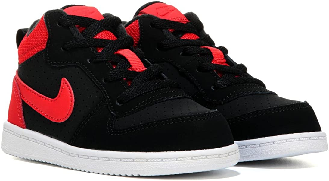 Court Borough MID (TD) Boys Basketball,Shoes 839981,002_4C , Black/Action  RED
