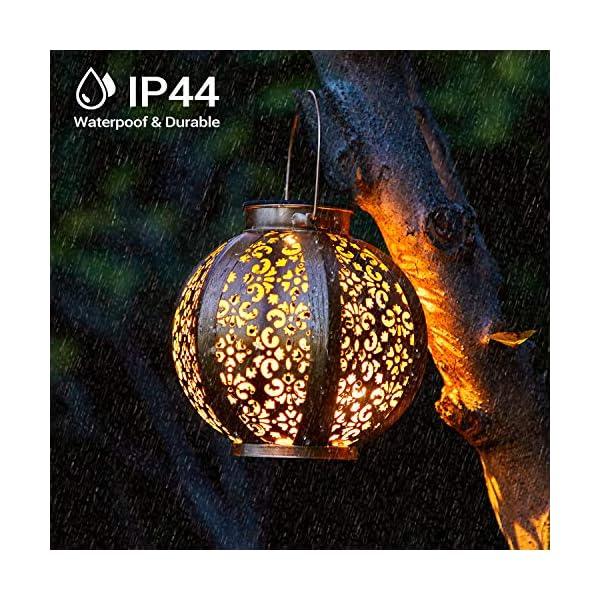 613SD58BW7L 2 Stück Solar Laterne für Außen,OxyLED IP44 Wasserdicht Dekorativ Solar Gartenleuchte,Solarlampe Outdoor Dekorationen…