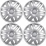 #3: Hubcaps for Toyota Sienna (Pack of 4) Wheel Covers - 16 Inch, 6 Spoke, Snap On, Silver