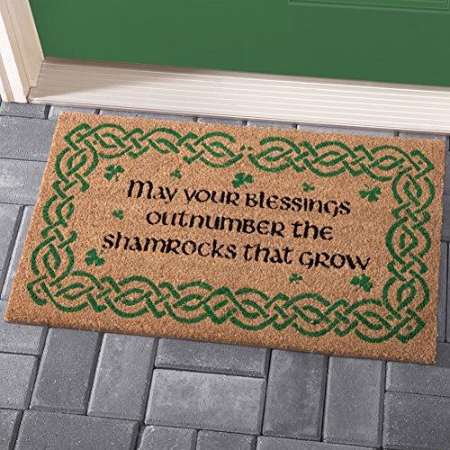 [해외]기네스 아일랜드 축복 코코 매트/Shamrock Irish Blessings Coco Mat