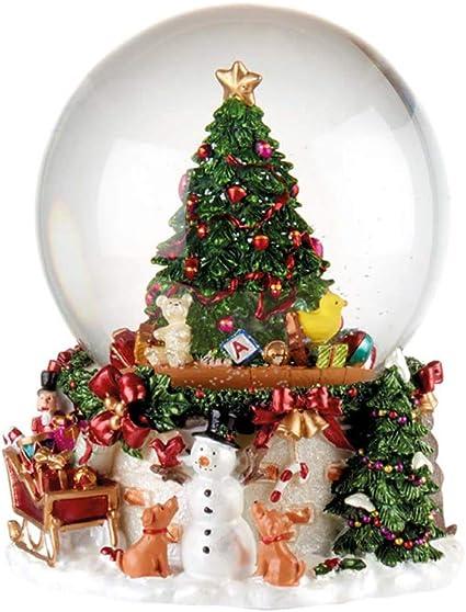 Foto Con La Neve Di Natale.L Oca Nera Cade La Neve Boule De Neige Con Carillon Palla Di Neve Natale Albero 1xm511 11 Amazon It Casa E Cucina