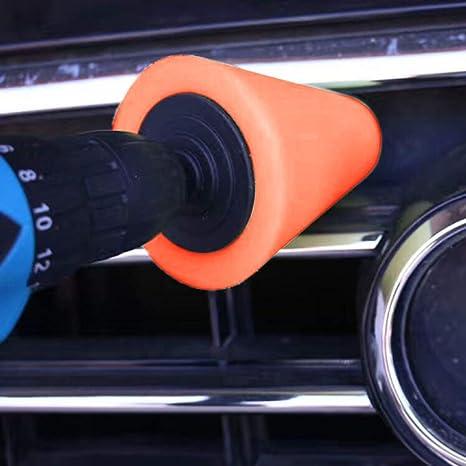 Uso con el taladro de potencia Rockyin 1PCS espuma de pulido en forma de cono pulidoras de rat/ón for ruedas