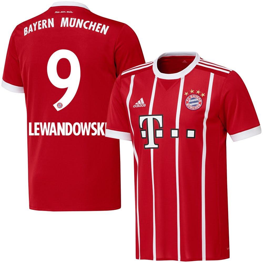Bayern München Home Trikot 2017 2018 + Lewandowski 9