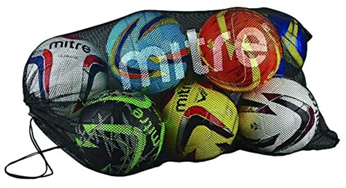 5bab314c20 Mitre H7010 Football Basketball 10 Ball Storage Holdall Bag Mesh Carry Net  Only  Amazon.co.uk  Sports   Outdoors