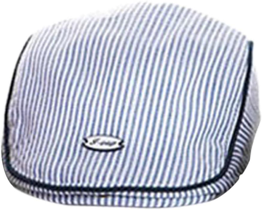Blue Oyedens Cotton Blend Toddler Baby Boy Girl Stripe Beret Cap Sun Cap Hat