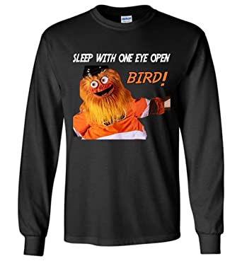 45fdc017305 Amazon.com: Sleep with One Eye Open Bird Philly Gritty T-Shirt Long Sleeve:  Clothing
