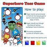 PANTIDE Superhero Toss Games with 4 Bean