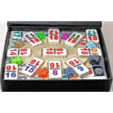 Dominoes Double 18, Mexican Train Set with Numbers