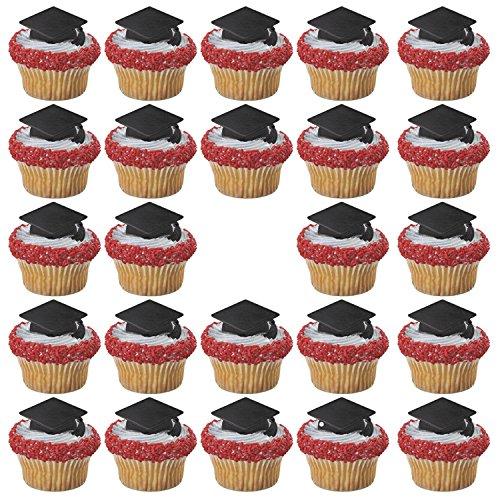 Black Graduation Cap Cupcake Rings product image