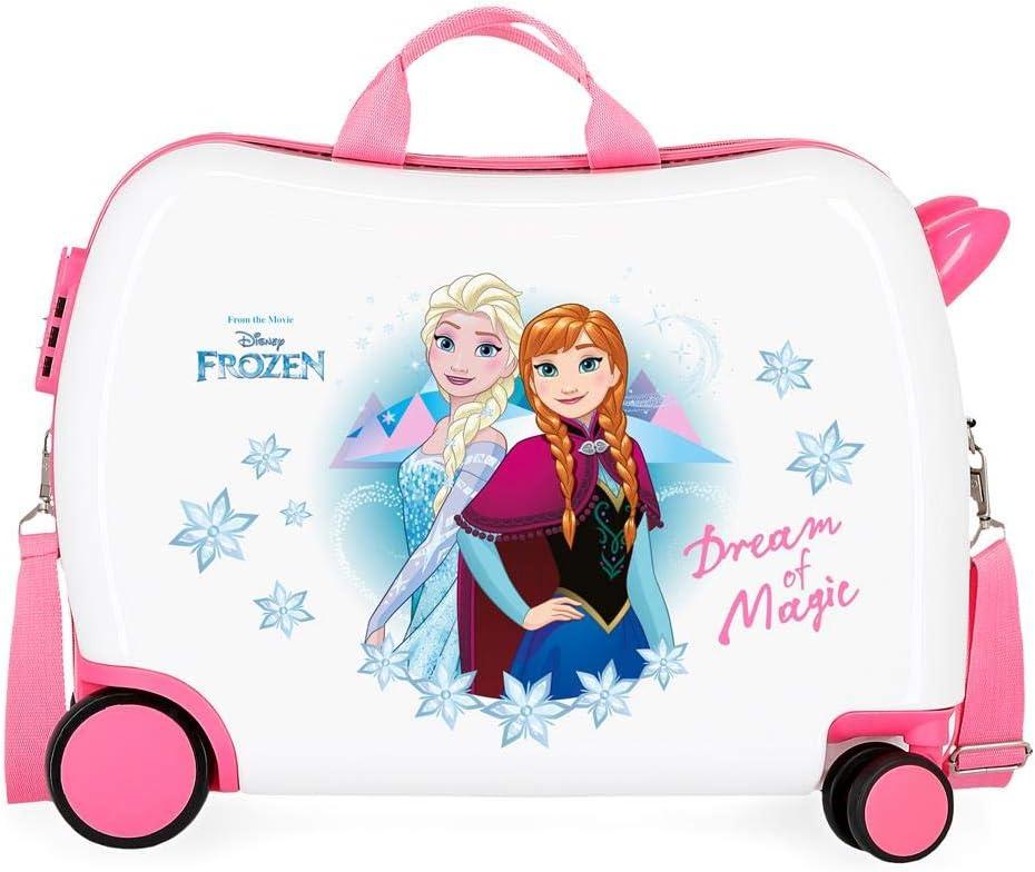 Maleta infantil 2 ruedas multidireccionales Frozen Dream of Magic