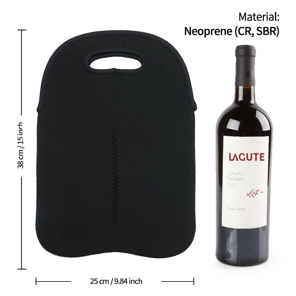 Lagoon Silk Print Weinflasche Träger Wein Tote Weinkühler, Neopren 2 ...