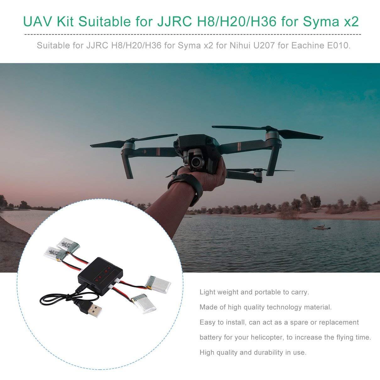 ToGames-ES 3.7V 150mAh Batería Recargable Drone Batería para JJRC ...