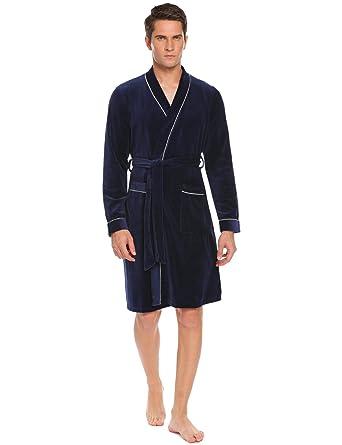 De Peignoir Bain Chambre Doux Col Homme Onbay V Robe Eponge 7x4ZZq