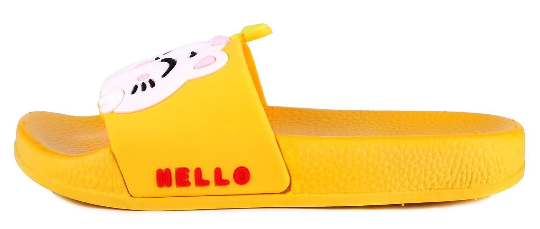 YUNTEN Boys Girls Cartoon Casual Slide Sandals Summer Beach Pool Indoor Bath Slippers(Toddler//Little Kid)