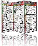 Variosling® Gran Póster/Cartel de Entrenamiento en Suspensión con 54 Ejercicios | Plan/Rutina/instrucción del Entrenamiento Funcional/Muscular | Dos Piezas (anverso y Dorso), tamaño A1