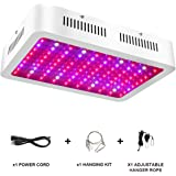 1000W LED Grow Light - Full Spectrum LED Grow Lamp with Adjustable Rope, UV and IR for Indoor Plants Veg and Flower by Lonwon - (10W LEDs 100Pcs)