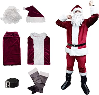 Christmas Mask Scarf Gloves Santa Suit Custom Adult Kids Accessory Dress