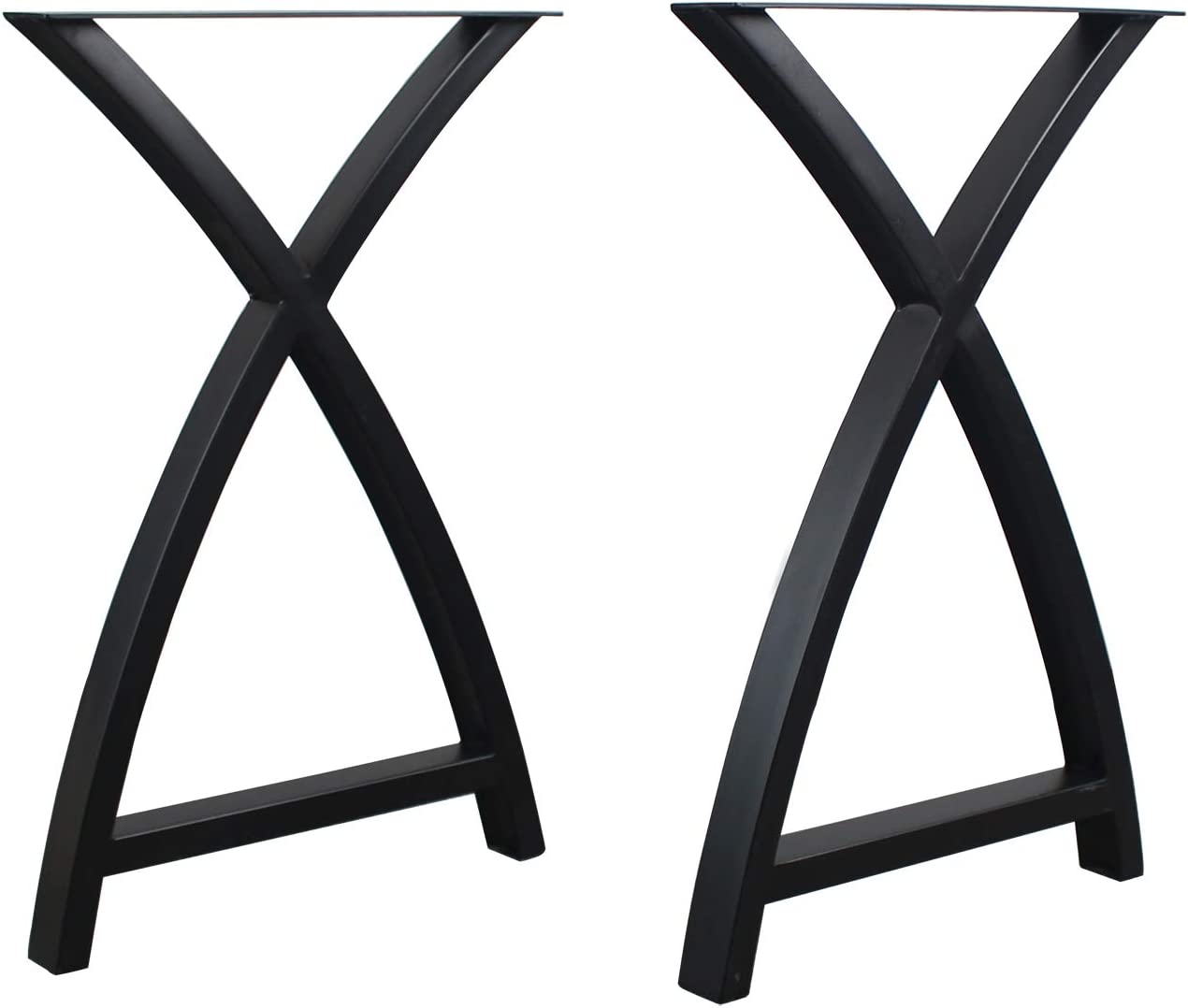LENGEN Furniture Legs Arc Triangle Shape Table Legs,Industrial Modern Decor Metal Legs,28H x 17.7W inch Heavy Duty Desk Legs,Dining Table Legs,DIY Table with Iron Legs(2 Pieces)