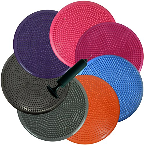 bintiva 2 Pack Inflated Stability Balance Disc, Including Free Pump Bulk Packaging