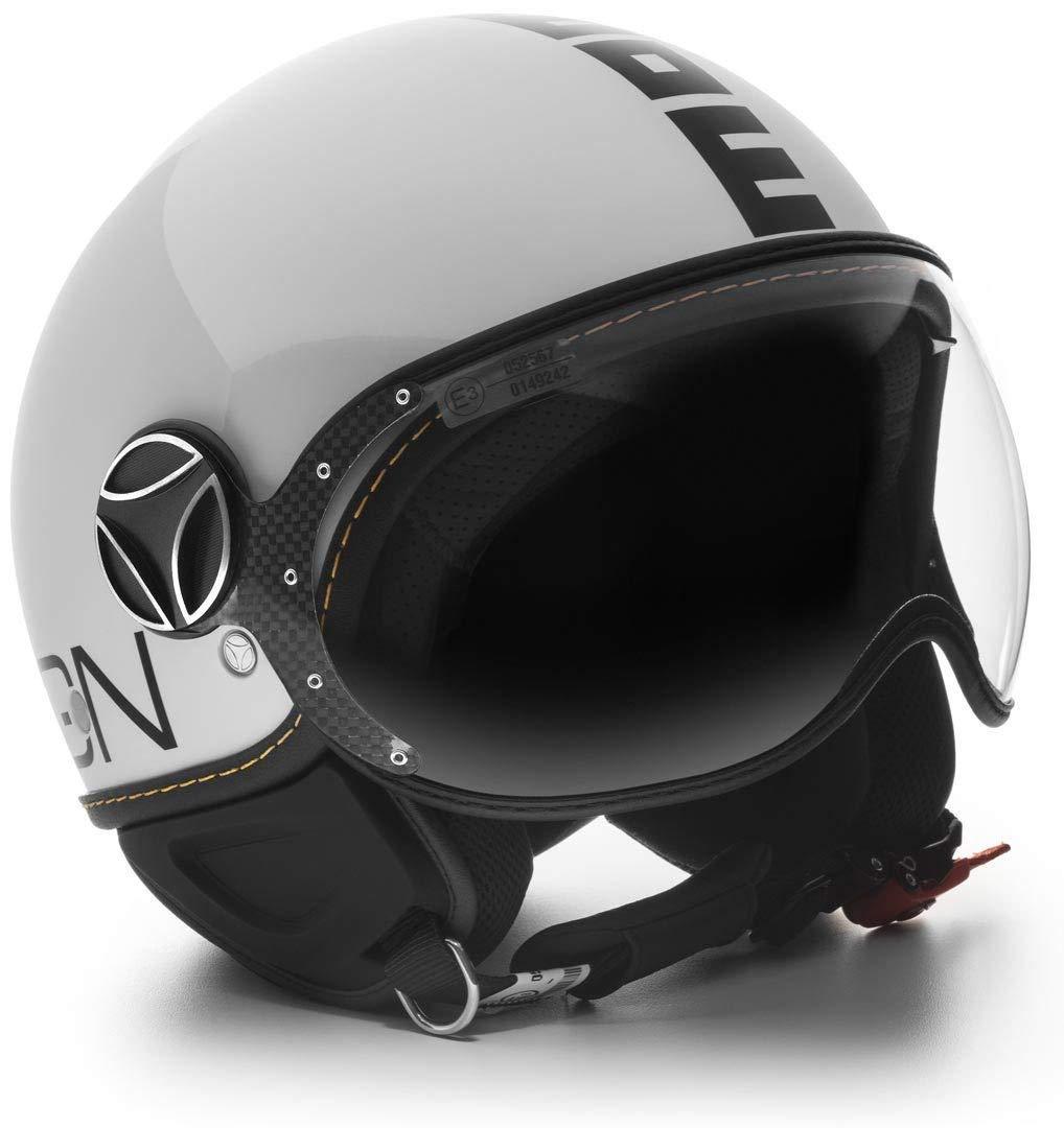 Casco Moto Jet MOMO Design FGTR Evo Bianco Quarzo