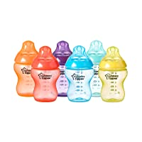 Tommee Tippee Closer to Nature Fiesta Baby Feeding Bottles, Anti-Colic, Slow Flow...