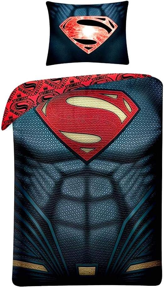 Copripiumino Superman.Parure Copripiumino Superman In Cotone Per Letto Singolo Amazon