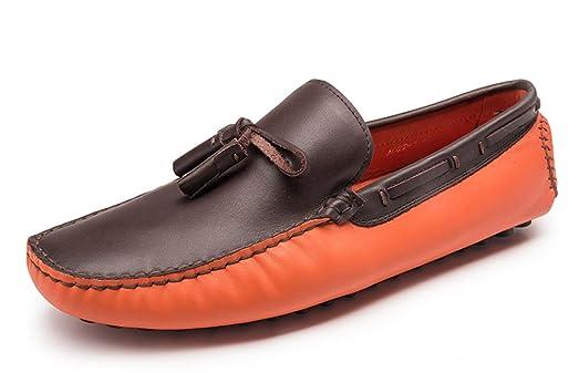 Men's Colorblock Slip-On Spring Tassel Loafer Boat Shoes