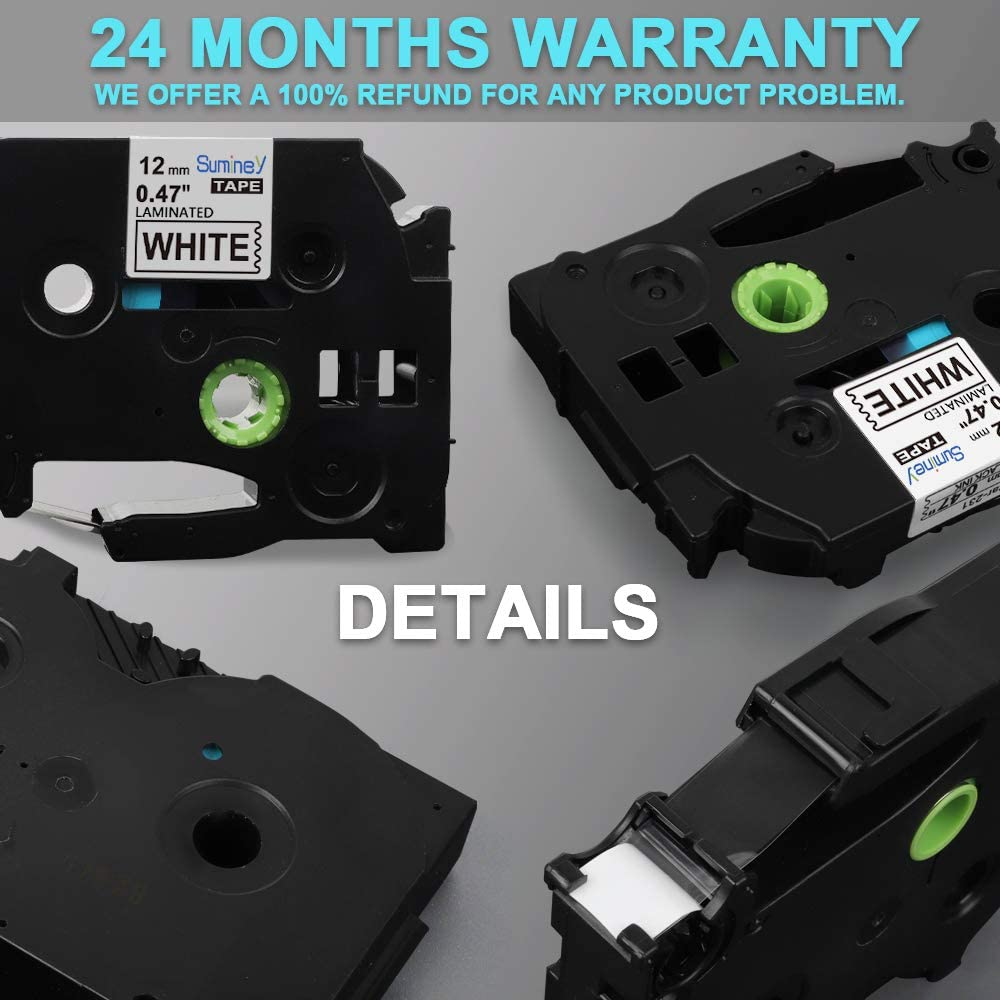 5x Schriftbänder kompatibel mit Brother TZE-631 P-Touch 1000 1280 2430PC 2730VP