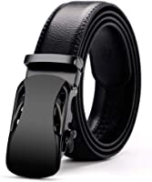 Men's Belt Black Automatic Buckle Ratchet Belt