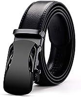 Men's Belt Black Automatic Buckle Ratchet Belt