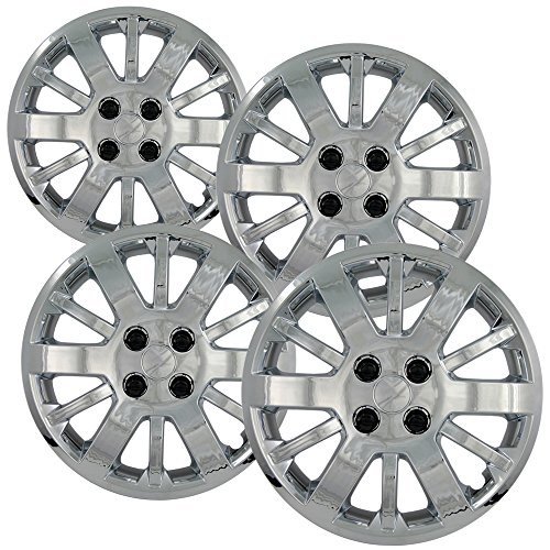 4 Bolt Hub (Hub-Caps for Select Chevy Cobalt (Pack of 4) 15 Inch Chrome Wheel Covers)