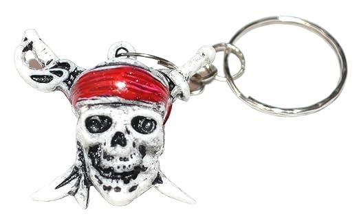 Llavero de calavera pirata () Keyring diseño de calavera ...