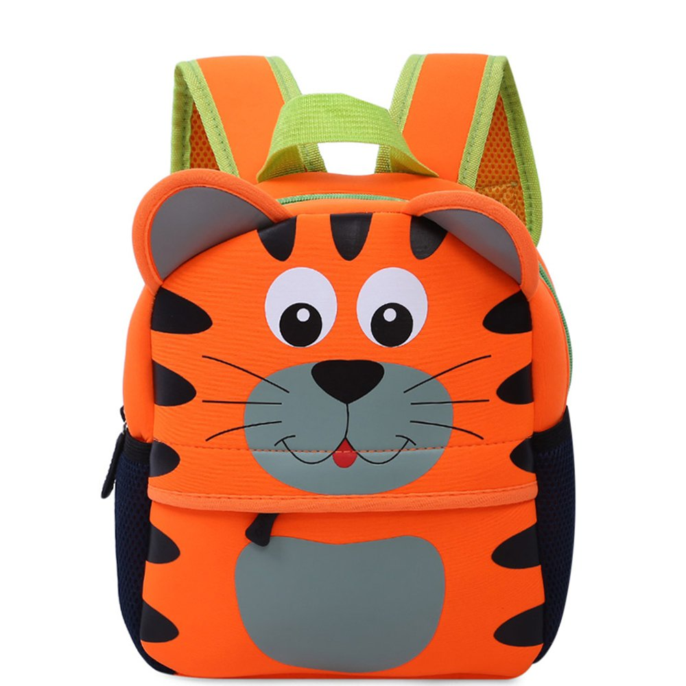rTwAY幼児用バックパック、Preschool Bags for Boys Girls幼稚園Pre Schoolバッグかわいい動物漫画デザインバックパックfor 3 – 6 Years Old L 59I0M44340D1605GJV17PS1 L タイガー B07FZ2B7V5