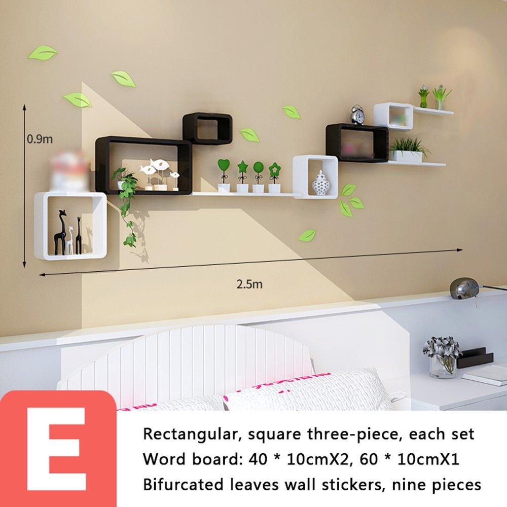 Shelf Wandgestell, Wand-hängendes Gitter, Fernsehwandgestell, Wohnzimmerwand-Teilgestell (Farbe   A) E