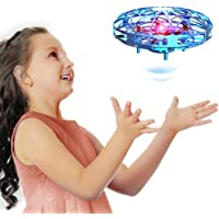 Hand Operated Drones for Kids Or Adults, Easy Indoor Flying Ball Drone Toys for Boys or Girls, UFO Mini Kids Drone (Blue)