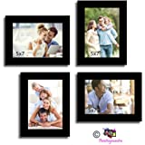 Art Street 'Wall Collage' Photo Frame (Wood, 46 cm x 50 cm x 2 cm, Black)