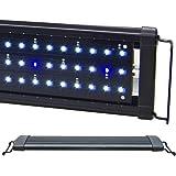 """BeamsWork EA White Blue LED Aquarium Fish Tank Light Extendable Timer Ready (12"""" - 18"""")"""